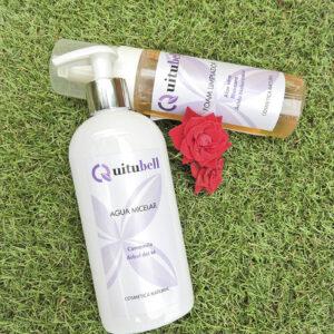 agua micela y foam limpiador cosmetica natural facial