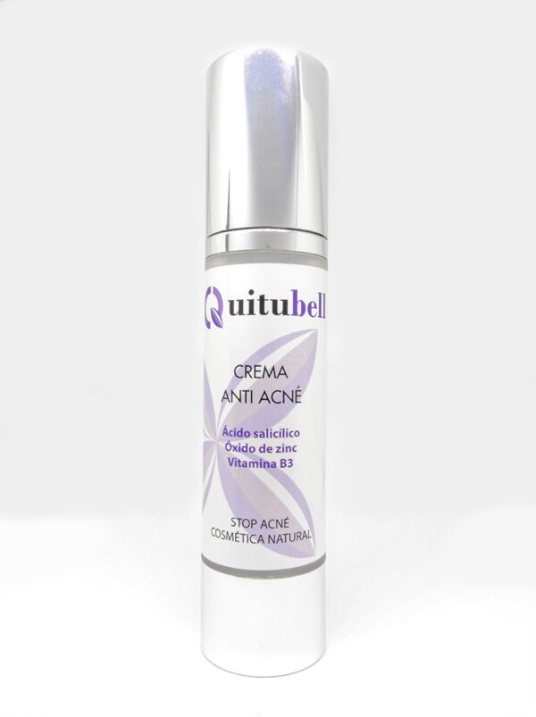 crema antiacne natural acido salicilico quitubell