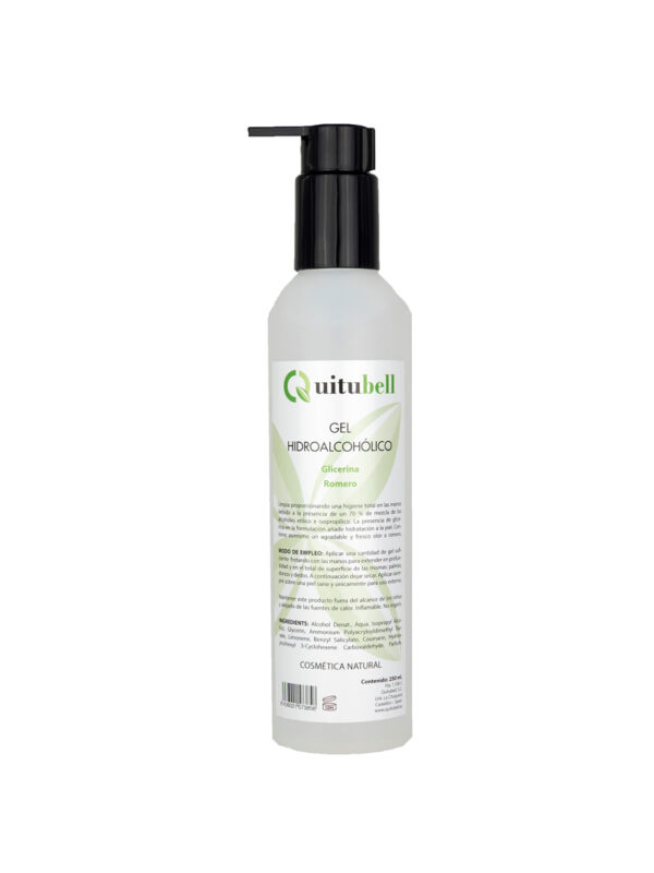 gel hidroalcoholico natural quitubell bienestar